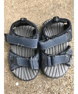 Cherokee Navy Blue Velcro Strap Slip On Sandals Toddler Boy Sz 5 - $8.86