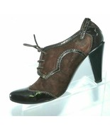 ATTITUDE FEMME Made In Italy Brown Patent Leather & Suede Upper Size 6M ... - $4.99