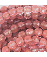 "6mm Cherry ""Quartz"" Glass Faceted Round Beads 1 strand - $2.77"