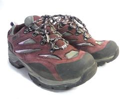 LL BEAN plum purple leather bumper toe hiking comfort cross trainer snea... - $21.00