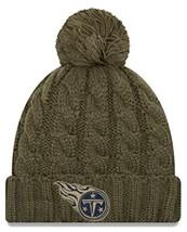 Era Women 2018 Salute to Service Sideline Cuffed Knit Hat ? Olive Tennes... - $45.98