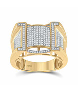 10kt Yellow Gold Mens Round Diamond Band Ring 5/8 Cttw - £822.16 GBP
