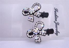 Sparkling Simulated Diamond Bow Hair Clamp Clip - $14.03