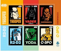 Limited Edition Star Wars Stamp 3 D Rare Anniversary Special Spain  - $15.99