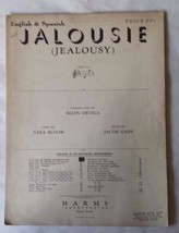 Jalousie - Jealousy - Sheet Music - (c) 1926, 1931, 1945 - English & Spa... - $12.86