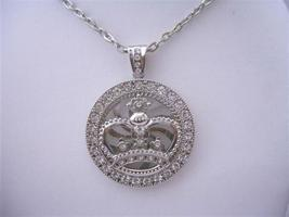 Bling Bling Spinning HipHop Silver Crown Spinning Pendant Cubic Zircon - $21.83