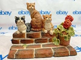 "Lowell Davis ""Sun Worshippers"" Figurine 1989 Schmid Cats 223620 Friends of Mine - $81.66"