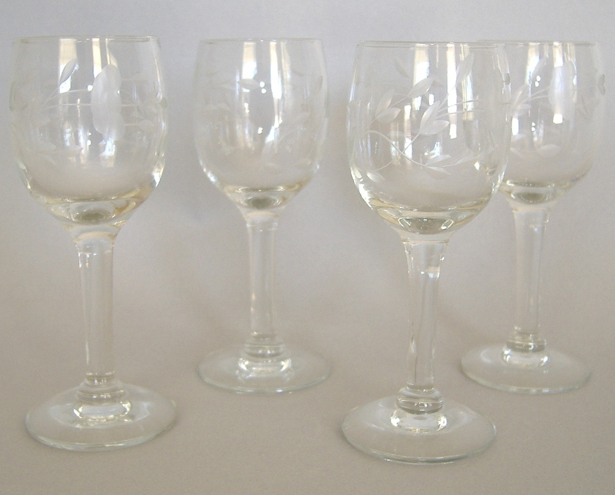 4 princess house heritage cordial handblown crystal cut for Princess housse