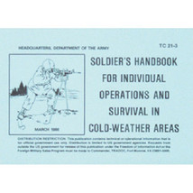 Army COLD WEATHER SURVIVAL Book Tactical Manual TC 21-3 - $13.67