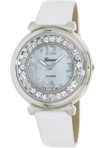 Geneva Platinum  Designer Inspired Women's Floating Czech Rhinestone MOP... - $39.99