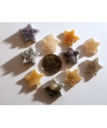 Small Druzy Star Cabochons All Natural Wholesale Lot of 10 - $29.95