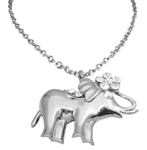 Vintage Elephant Pendant Hip Hop Shimmering Elephant Pendant w/ CZ - $15.33