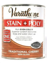 1 Varathane 32 Oz Stain & Poly 266164 Traditional Cherry Semi Gloss Even... - $29.99