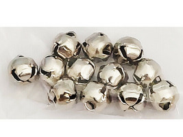 Silver Jingle Bell Charms, 12 Count