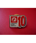 Canadian Blood Services Lapel Pin Hat Pin Collector Souvenir 10 X Donor ... - $5.99