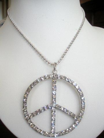 Primary image for Peace Sign in ICe Shimmering all covered w/ CZ 24 inches