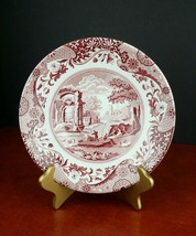 """large saucer bowl Spode Italian red maroon 8.75"""" reproduction dinnerware - $12.35"""