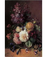 "20x30""Poster on Canvas.Home Room Interior design.Flower bouquet vase.6450 - $60.78"