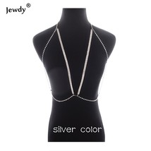 Jewdy V Sexy Body Chain Charm Exaggerated Night Club Party Shine Bra NeckChain S - $11.29