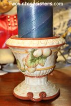 Fitz and Floyd Classic Autumn Splendor Pillar Style Candle Holder - $18.49