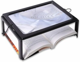 Glass, Hands Free, Foldable, Rectangular Full-Page Magnifier