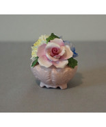 Radnor Bone China England Floral Basket Handpainted Handmade - $19.20