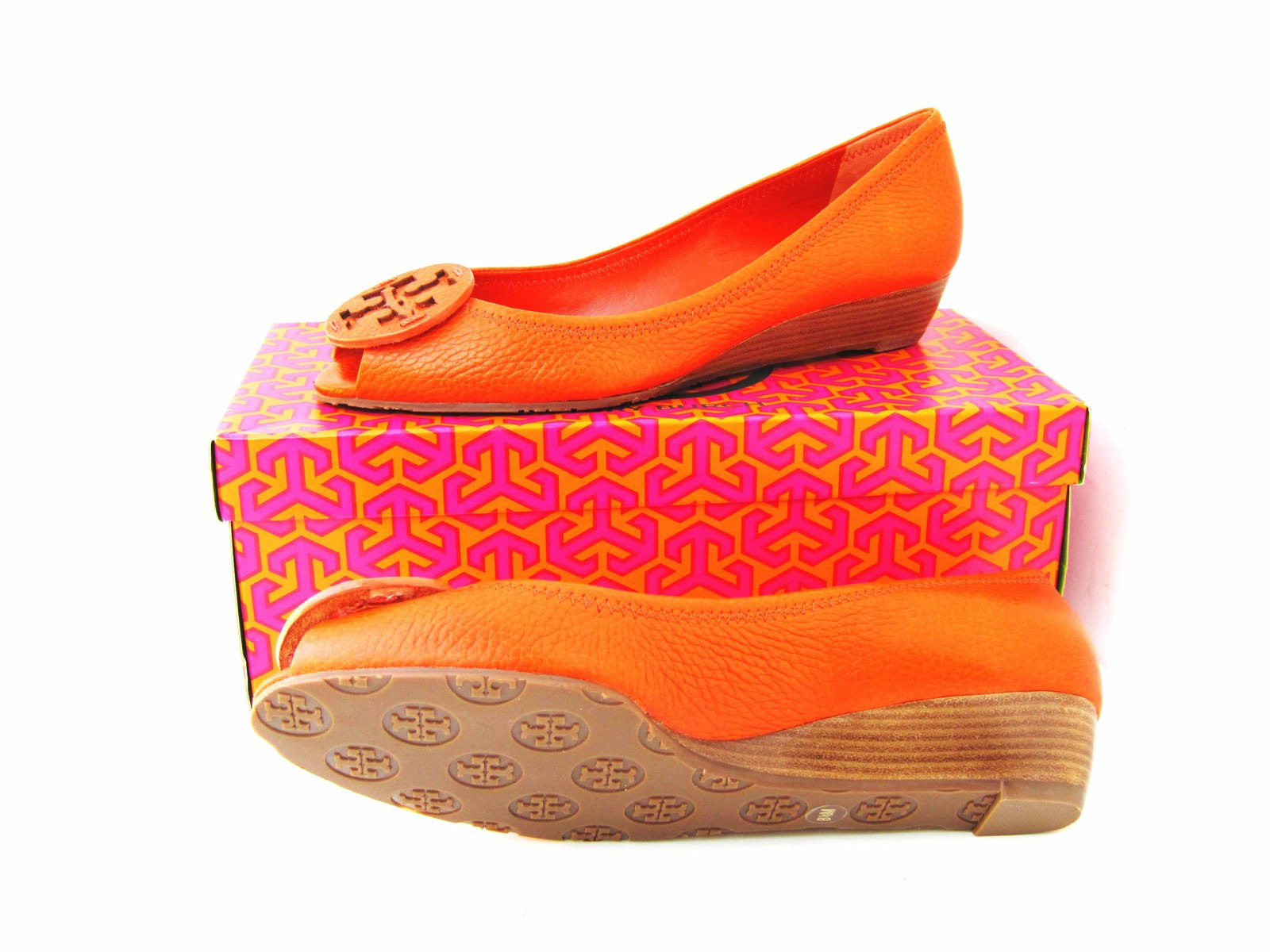 3c5cd60271df Tory Burch Kitty Tumbled Tonal Logo Peep Toe and 50 similar items. Img 3184