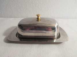 Vintage Silver Plated Wide Butter Dish - $18.99