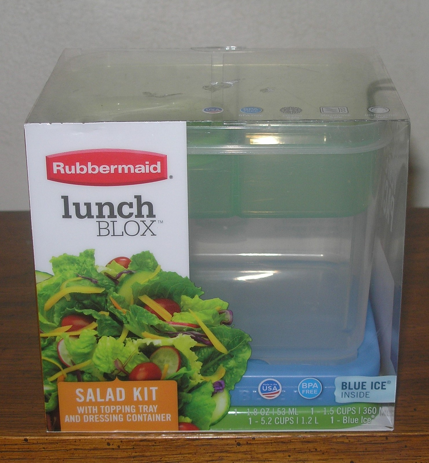 New Rubbermaid Lunch Blox Salad Kit Food Storage Containers
