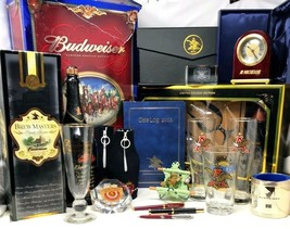 Mixed Lot Vintage Anheuser Busch Budweiser Beer Collection 27 pc Bar Dis... - $142.20