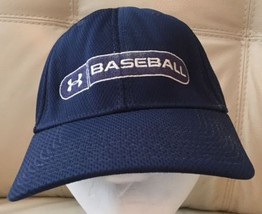 Under Armour Babseball Hat Size Large Fitted NAVY - $14.01