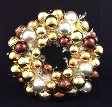 """Christmas Ball Ornament Wreath Gold and Silver 16"""" - $20.57"""