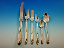 Sweetheart Rose by Lunt Sterling Silver Flatware Set for 12 Service 78 pieces - $4,200.00