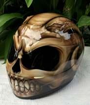New Custom Airbrush Helmet Goat Skull Head (Dot & Ece Certified) - $250.00