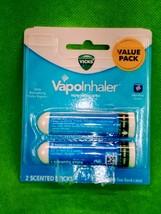 Vicks VapoInhaler Non-Medicated Refreshing Menthol Scent Sticks 2 pk Val... - $6.90