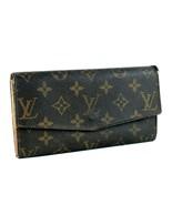 Auth LOUIS VUITTON Monogram Leather Bifold Envelope Long Wallet TH822 Fr... - $117.81