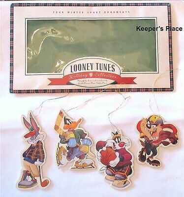Primary image for 4 Warner Bros Looney Tunes Sports Collection Ornament Bugs Bunny Daffy Duck