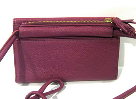 Fossil Brand Sophia Tassled Crossbody Wallet Raspberry Wine SLG1036672 NEW  - $44.10