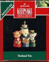 Hallmark Keepsake Miniature Ornament Treeland Trio 1991 - $5.87