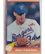 BASEBALL  1991  PACIFIC - NOLAN  RYAN - NOLAN'S A REAL GAMER - #92 - (MINT) - $14.99
