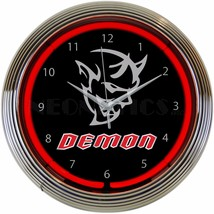 "Auto Dodge Demon Light Garage Neon Clock 15""x15"" - $69.00"