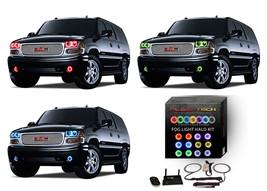 for GMC Yukon 01-06 RGB Multi Color WIFI LED Halo kit for Fog Lights - $93.06