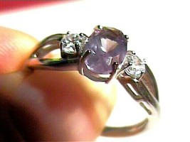 sterling 925 silver ring Russian alexandrite 7 small color change dainty... - $79.30