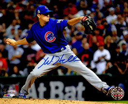 KYLE HENDRICKS Signed Chicago CUBS 2016 World Series Action 8x10 Photo -... - $138.22
