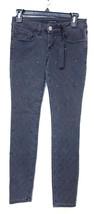 Sneak Peek Decorato Aderente Caviglia Jeans, Nero, 5 - $24.81