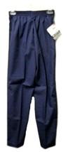Navy Blue Size XS Petite Elastic Waist Medical Unbranded Scrub Pants New - $16.63
