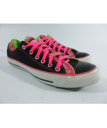 Converse Chuck Taylor Double Upper Ox Sneakers Black/Pink/Green Women's ... - $40.54