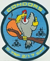 US ARMY  2 -17TH AIRCAVALRY C-TROOP CONDORS PATCH STICKER - $9.89
