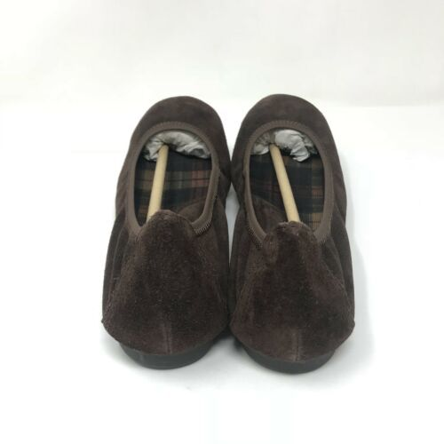 Born Womens Size 8 Julianne Ballet Flats Dark Brown Suede Leather Slip Ons