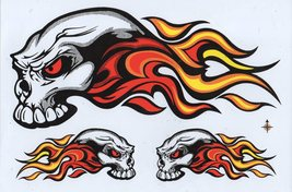 D002 Skull Head Bones Dead Decal Racing Tuning Size 27x18 cm / 10x7 inch - $3.49